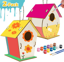 Kids Crafts Wood Arts and Crafts for Kids Diy Bird House Kit for Children to Bui