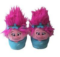Dreamworks Trolls Pink Girls Slippers Plush House Shoes Size Large Kids
