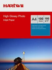 More details for hartwii 100 sheets a4 180 gsm high glossy photo paper inkjet  printing ink uk