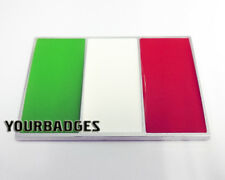 Nueva Insignia De Coche de Cromo ABS BANDERA ITALIANA ITALIA ITALIA FÍAT Alfa