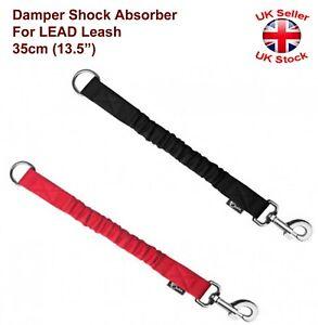 """DAMPER Shock Absorber For Lead Leash 35mm (12"""") Black/Red"""