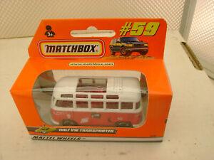 1998 MATCHBOX SUPERFAST #59 1967 VW Volkswagen Transporter Bus Nuovo IN Scatola
