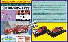 ANEXO DECAL 1/43 PEUGEOT 307 WRC MARCUS GRONHOLM SWEDISH RALLYE 2005 (06)