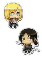 Attack on Titan Christa and Ymir 2 Pin set Anime Licensed NEW