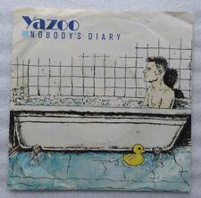 """7""""  YAZOO  **  NOBODY´S DIARY  **           VG++       TOP-ZUSTAND"""