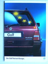 Prospekt Volkswagen VW Golf III Variant Europe, 7.1995, 12 Seiten
