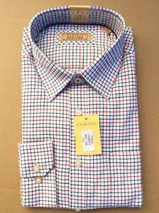 Gurteen Mens Tattersall Emerald & red check shirt,100% cotton many sizes