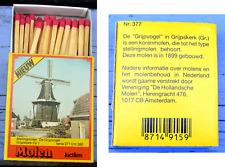 Boîte d'allumettes Pays Bas, Moulin à vent de Grijpskerk, Groningen