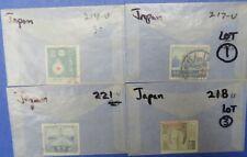 Japan Scott 214, 217, 218 and Scott 221 (Lot 34)