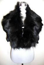 Zorro negro pelzstole Stole estola guardián Black Fox fur collar cuello