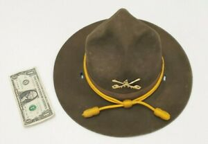"Drill Gunnery Gunny Sergeant Vintage Hat - Green Army Marines Military 22"" Circ."