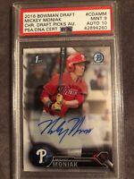 2016 Bowman Draft Chrome 1st Mickey Moniak Phillies Prospect Auto PSA/DNA 9/10💎