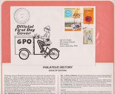 (K74-13)1979Guyana FDCPhilatelic history British Comm  summerCollection &page(M)