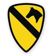 United States Army 1st Cavalry Hard Hat Decal / Sticker Military Army USA