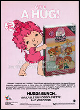 The HUGGA BUNCH__Original 1986 video print AD / advertisement promo__Hallmark