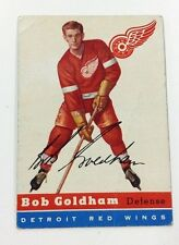 1954-55 TOPPS HOCKEY BOB GOLDHAM #46 CARD DETROIT RED WINGS