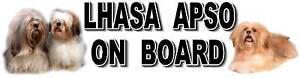 LHASA APSO ON BOARD Car Sticker By Starprint