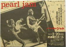 PEARL JAM Budokan Tokyo JAPAN 1995 CONCERT FLYER Vedder Ament Gossard McCready