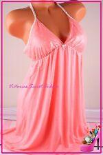 NWT Victoria's Secret Lingerie Large Slip Babydoll Plunge Lace Racerback Floral