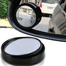 2X Universal Wide Angle Rearview Side Blind Spot Convex Mirror Black For Acura