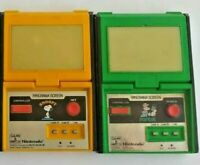 Lot of 2 game and watch panorama (  POPEYE - SNOOPY ) Working
