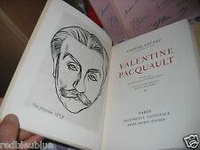 """Gaston CHERAU """"Valentine Pacquault"""" Sur Vélin 1/3000 Eau Forte Jacquemin"""