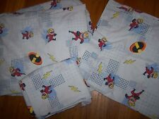 DISNEY PIXAR THE INCREDIBLES DASH FULL SIZE SHEET SET & SOFT DASH DOLL