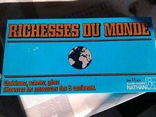 """Ancien jeu de société """"RICHESSES DU MONDE"""" de Nathan de 1982"""