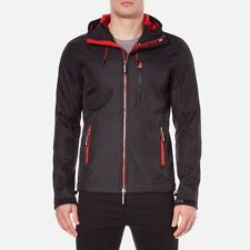 Superdry Mens Original Hooded Windtrekker Jacket Black/Red  XL