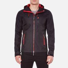 Superdry Mens Original Hooded Windtrekker Jacket Black/Red  Medium