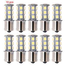 10x 12V 1156 BA15S 5050 7503 1141 18SMD LED White Car RV Trailer Light Lamp Bulb