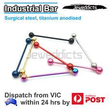 14G 38mm NEW Plain Industrial Barbell Bar Ear Ring Body Piercing Jewellery