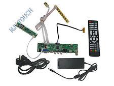 LA.MV9.P LVDS LCD Controller Board +12V 4A Power Adapter Kit HDMI USB AV VGA ATV