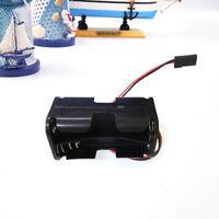 7A34 RC 4xAA Battery Box Holder With Futaba JR Plug Receiver Heli Planes Black