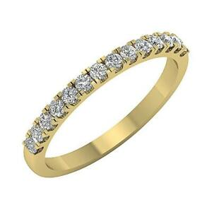 SI1 G 0.45Ct Round Diamond Engagement Stackable Ring 14K White Yellow Rose Gold