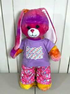 💜 Build a Bear Tropical Sunset Bunny Rabbit w/ Sweet Dreams Pajamas PJs 💜