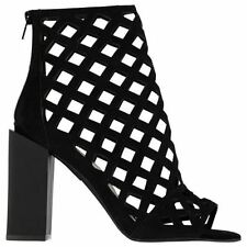 Zip Block Open Toe Heels for Women