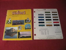 1970 Pontiac Safari Sales Brochure Catalog Old Booklet Original Book