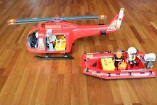 Playmobil 4428, Feuerwehr-Set ( großer Helicopter, Rettungs-Boot )