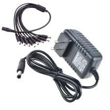 8-Way Splitter Cable AC Adapter For Lorex ACC-U81 ACCU81 Security Camera Power
