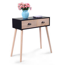 Modern Writing Table Small Computer Desk Laptop Table  2  Drawer Home Furniture