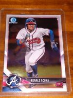 RONALD ACUNA JR 2018 Bowman CHROME Rookie RC # BCP1. MINT! BRAVES ROOKIE
