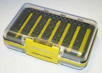 Leeda Profil Fly Box Slotted Foam 250 Slot Double Sided Fly Fishing Yellow J0542