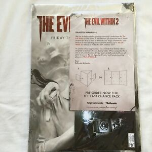 The Evil Within 2 Launch Kit Gamestop Art print Promo Collector NEW SEALED RARE