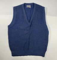 Vintage 80s Le Tigre Sweater Vest Size M Navy Blue V Neck Golf Pullover USA Made