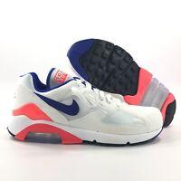 Nike Air Max 180 OG White Ultramarine Blue Solar Red 615287-100 Men's 8