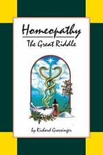 HOMEOPATHY - GROSSINGER, RICHARD - NEW PAPERBACK BOOK