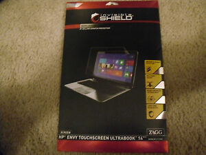 """Zagg Invisible Shield Smudge Proof for HP Envy Touchscreen Ultrabook 14"""" New!!!"""