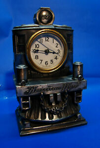 Rare 1927 Original Prewar 20th Anniversary American Flyer Pewter Clock, Ex