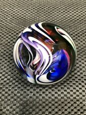 Glass Paper Weight Signed